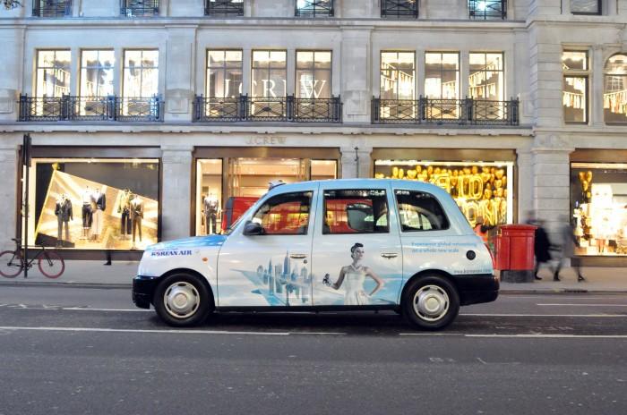 quảng cáo trên taxi sáng tạo