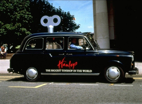 quảng cáo taxi thú vị