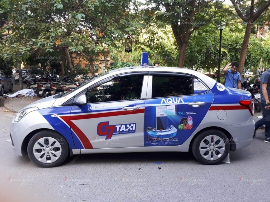 quảng cáo trên G7 taxi