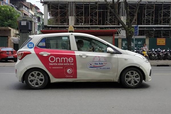 quảng cáo trên taxi Hà Nội