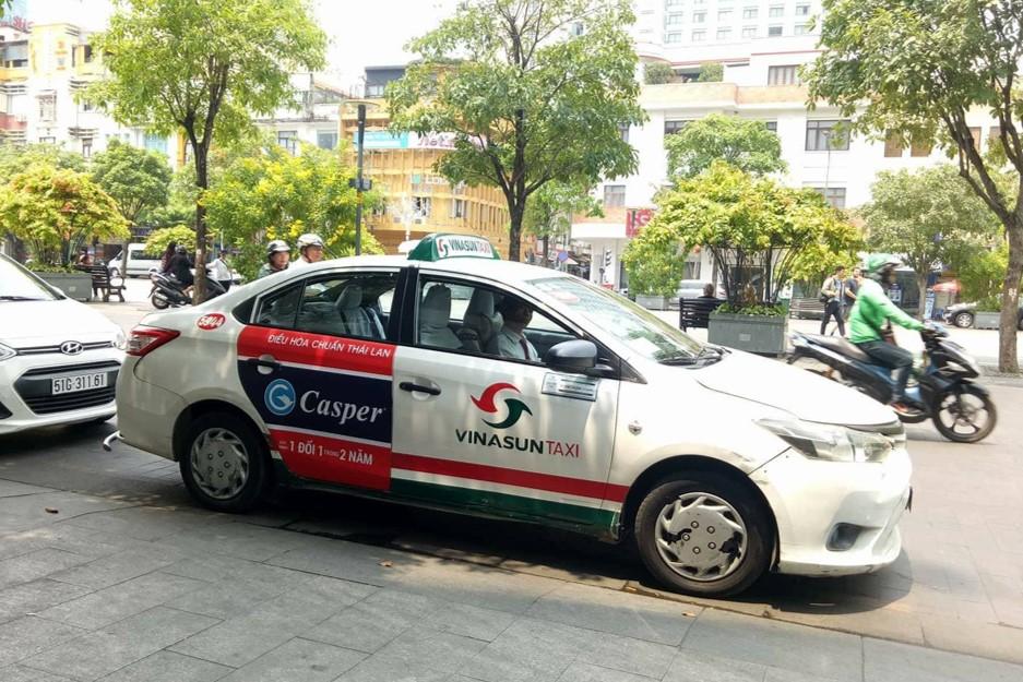 quảng cáo trên các hãng taxi