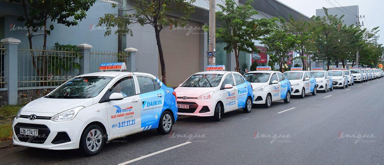 Quảng cáo trên taxi Airport Đà Nẵng
