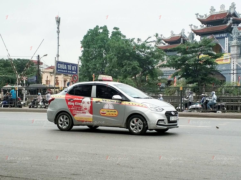 Dịch vụ quảng cáo trên taxi Long Biên