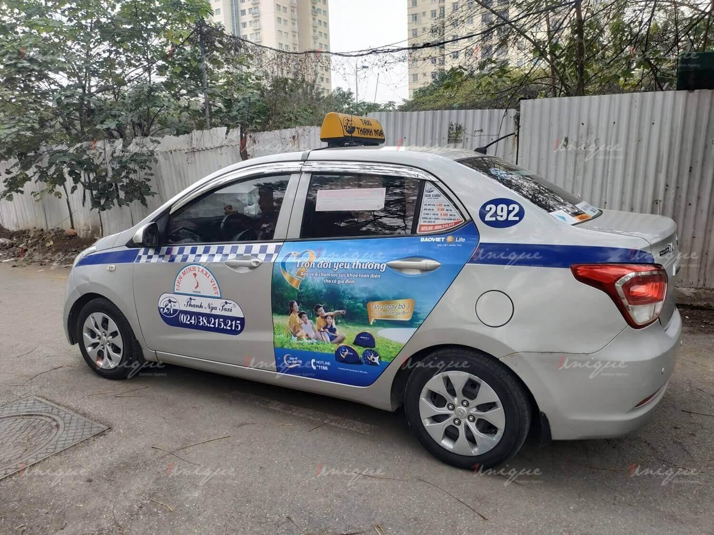 Quảng cáo trên taxi Thanh Nga