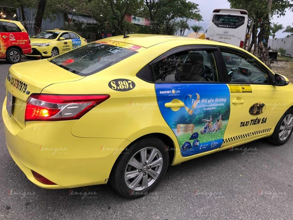 bảo việt quảng cáo trên taxi