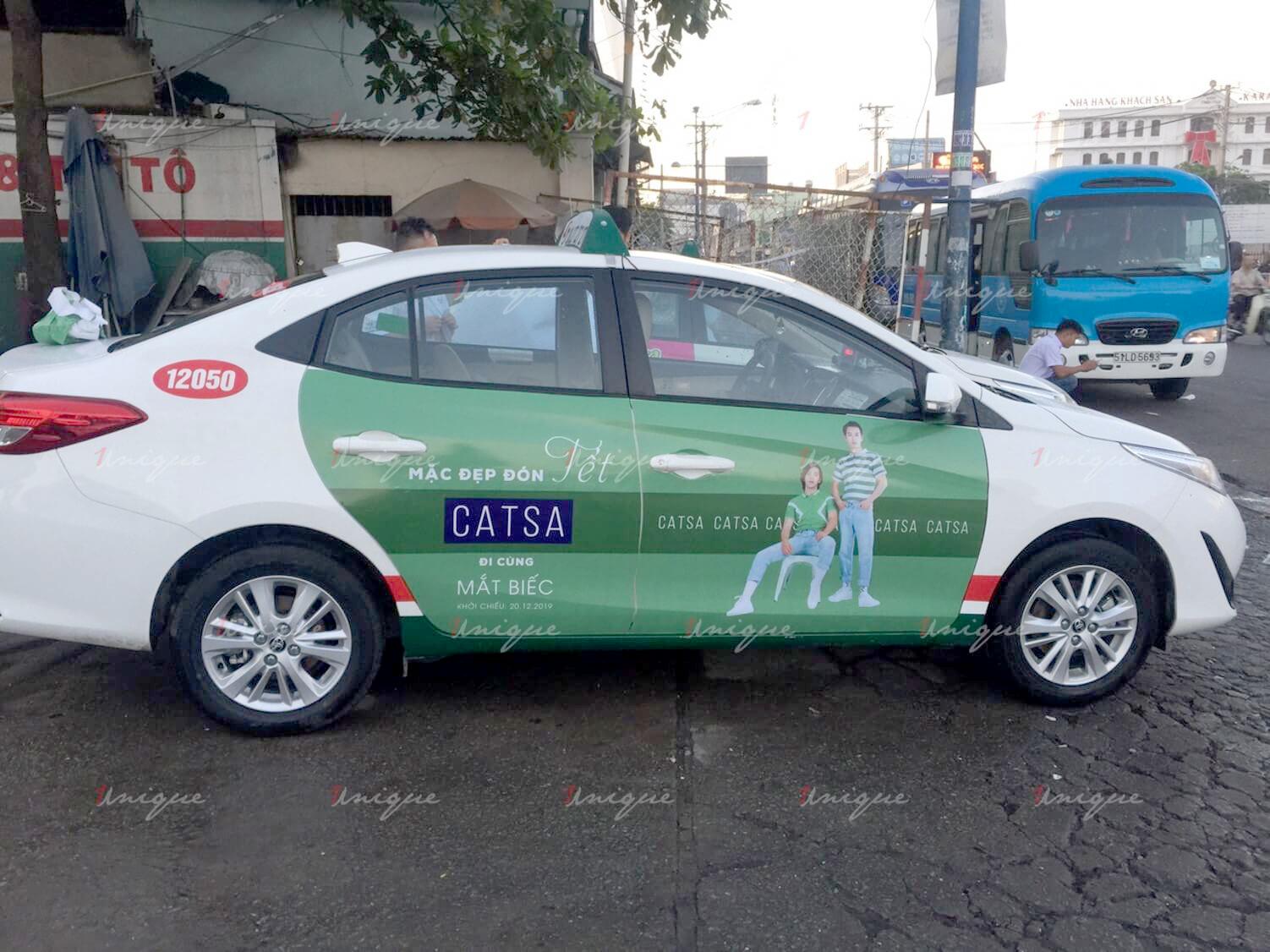 thời trang Catsa quảng cáo trên taxi